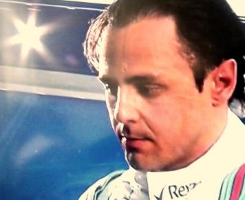 Massa: cara fechada após treino no Bahrein - Reprodução/SporTV