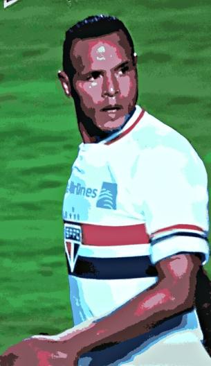 Luís Fabiano: gol e expulsão - Imagem: Beneclick