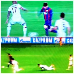 Boateng x Messi: depois da queda, de olho no lance