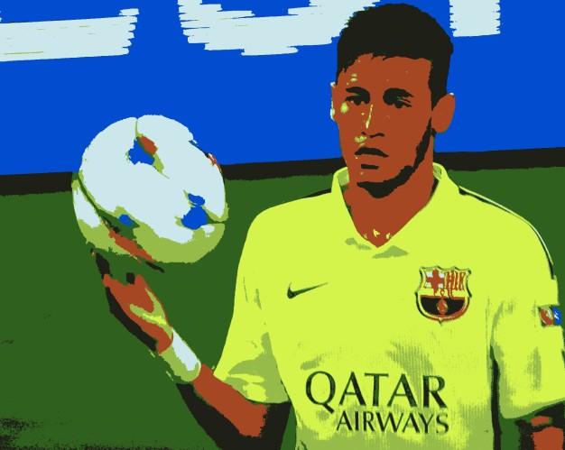 Neymar e a bola