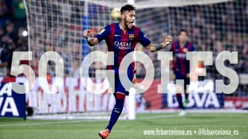 Barça grita no Twitter para festejar Neymar