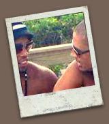 Alex e Ronaldinho - Foto: Twitter
