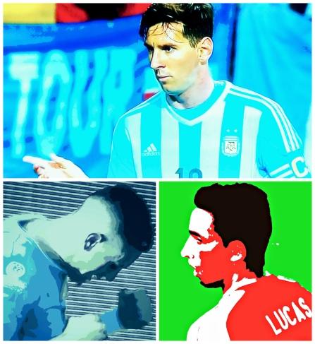 Messi faz centésimo jogo pela Argentina sem brilhar, Giménez e Lucas Barrios marcam os gos de Uruguai 1 x 1 Paraguai