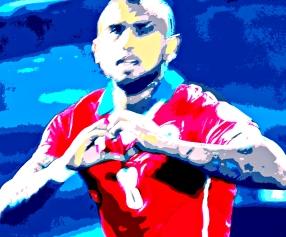 Arturo Vidal lidera o Chile nos 2 a 0 sobre o Equador