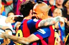 Messi e Daniel na Copa do Rei: bons amigos