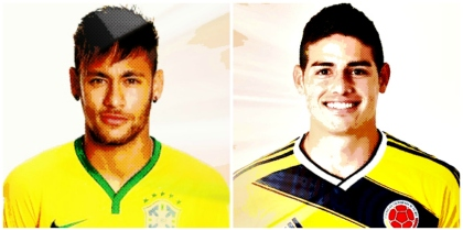 Neymar e James Rodriguez: desforra em Santiago?
