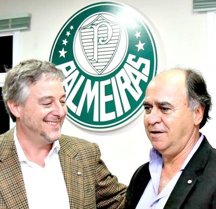 Paulo Nobre recebe Marcelo Oliveira na Academia - Foto: Cesar Greco/Ag Palmeiras/Divulgação