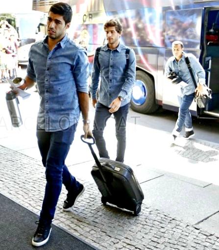 Suárez, craque uruguaio do Barça, leva para Berlim a cuia de mate/Foto: Miguel Ruiz-FCB