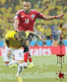 Zúñiga tirou Neymar da Copa