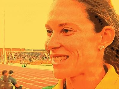 Fabiana Murer: sorriso dourado por medalha de prata