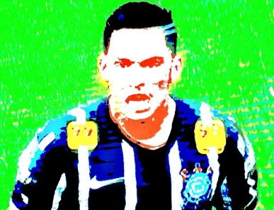 Luciano: destaque e artilheiro do Corinthians no final do primeiro turno