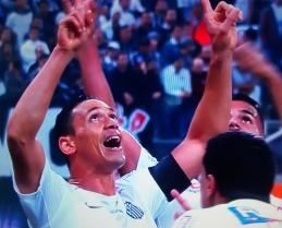 Ricardo Oliveira: gol nos 2 a 1 sobre Corinthians