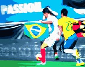 Brasil 1 x 0 Costa Rica: gol de Hulk logo aos 9 minutos