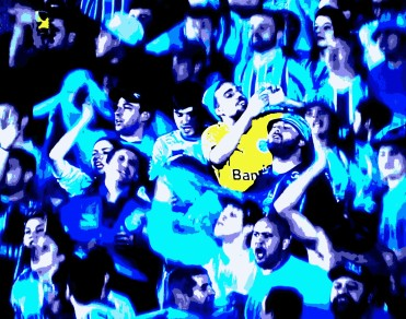 Torcida do Grêmio comemora 2 a 0 sobre Figueirense