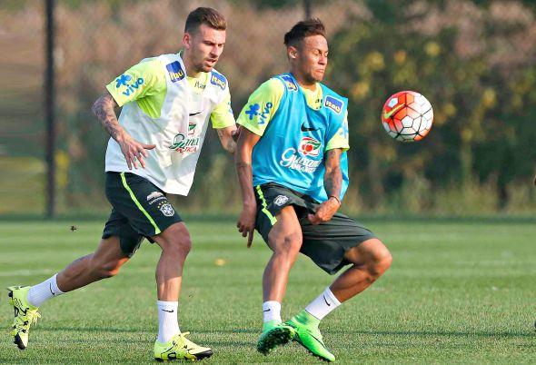 Lucas Lima e Neymar