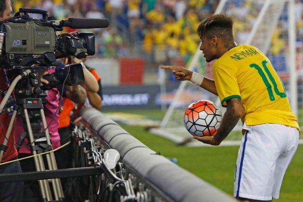 Neymar em EUA 1 x 4 Brasil
