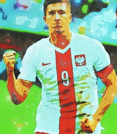 Lewandowski, centroavante do Bayern e da Polônia: 15 gols em seis jogos