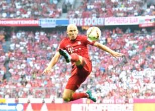 Robben: goleada, na volta - Foto: twitter.com/FCBayern