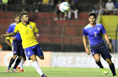 Gabriel: amistosos com EUA valem como preparação para Rio 2016 – Foto: twitter.com/CBF