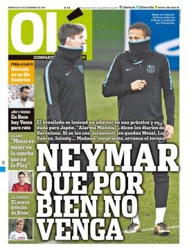 'Olé' escancara torcida contra Neymar e companhia